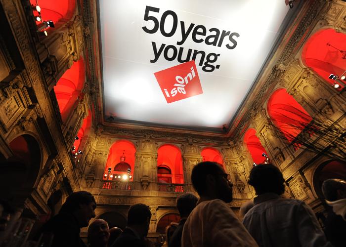 I Saloni, Fiesta de inauguración de los 50 años de la más importante feria del Design Contemporáneo. Foto de Luciano Pascali, gentileza de Cosmit spa.