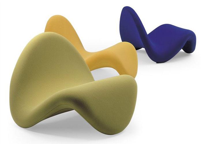 Diseñada por Pierre Paulin, Tongue es una butaca expresiva, una silla que susurra suavemente y cuya forma que fluye y los colores sutiles, permite crear interiores por sobretodo expresivos. Foto, gentileza de Artifort.
