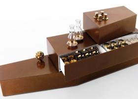 5 Blocks, diseño de Lappo Ciatti, es una familia de cinco modelos de contenedores individuales que se agrupan entre sí. Foto gentileza de Opinion Ciatti.